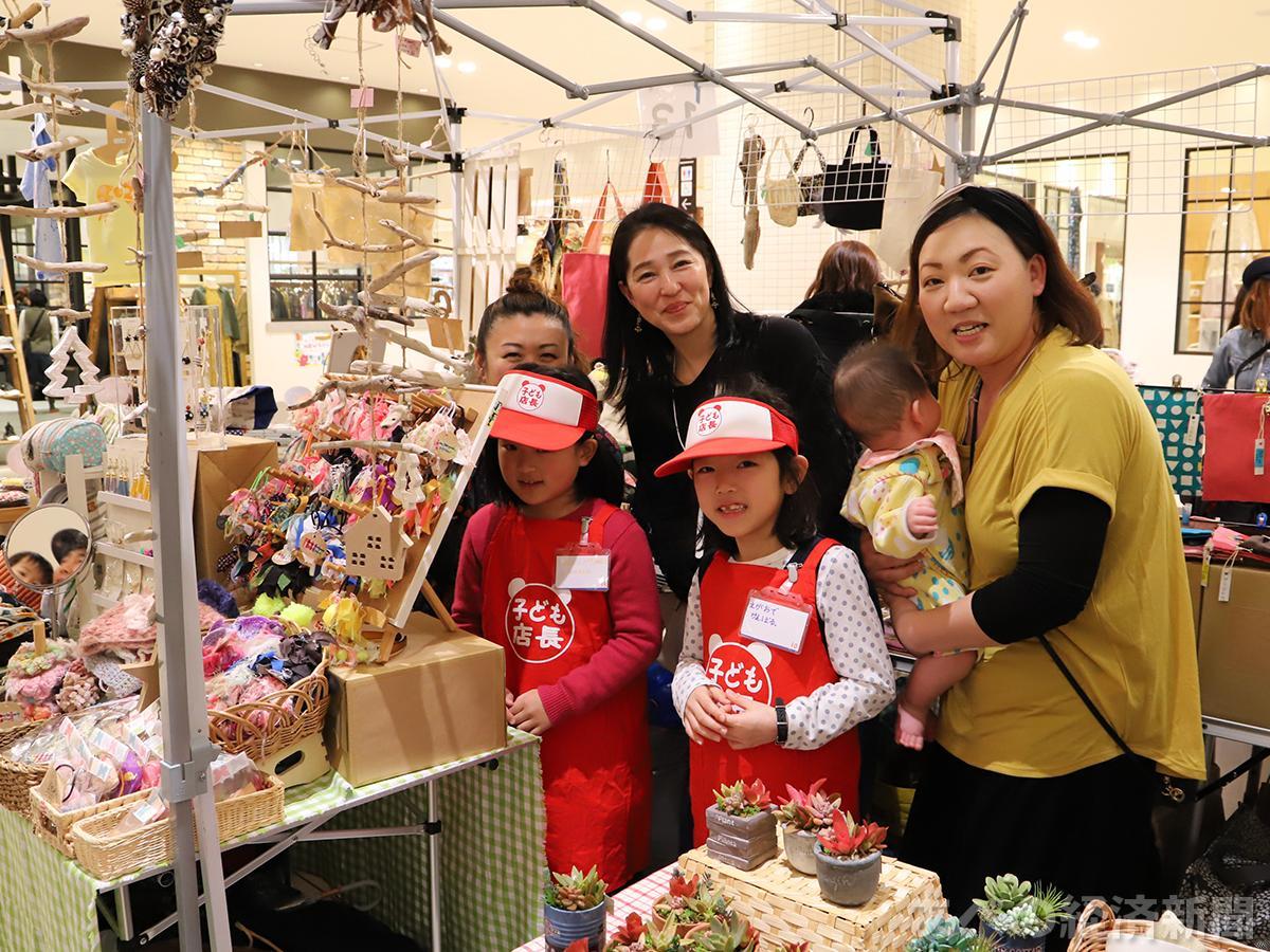 地元のママたちが手作り雑貨を販売