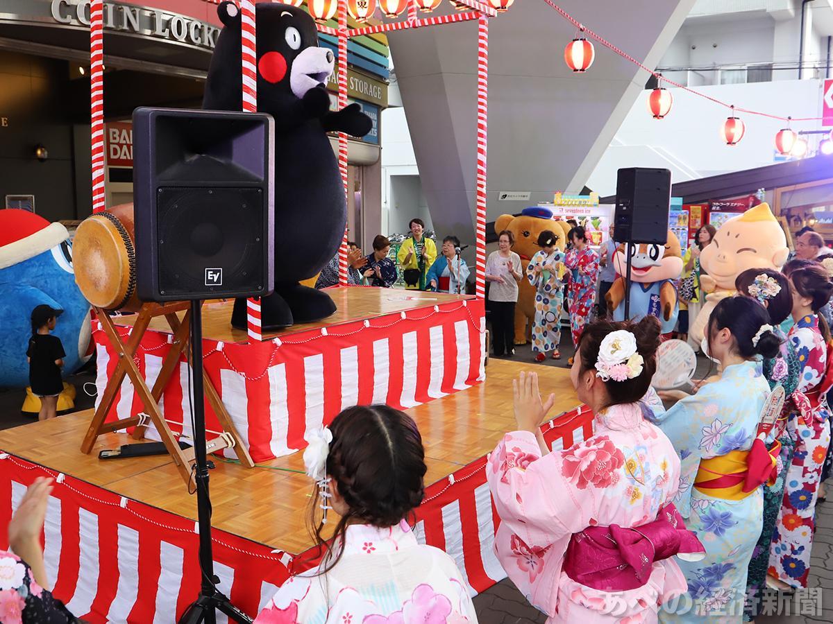 くまモンも登場した新世界盆踊り
