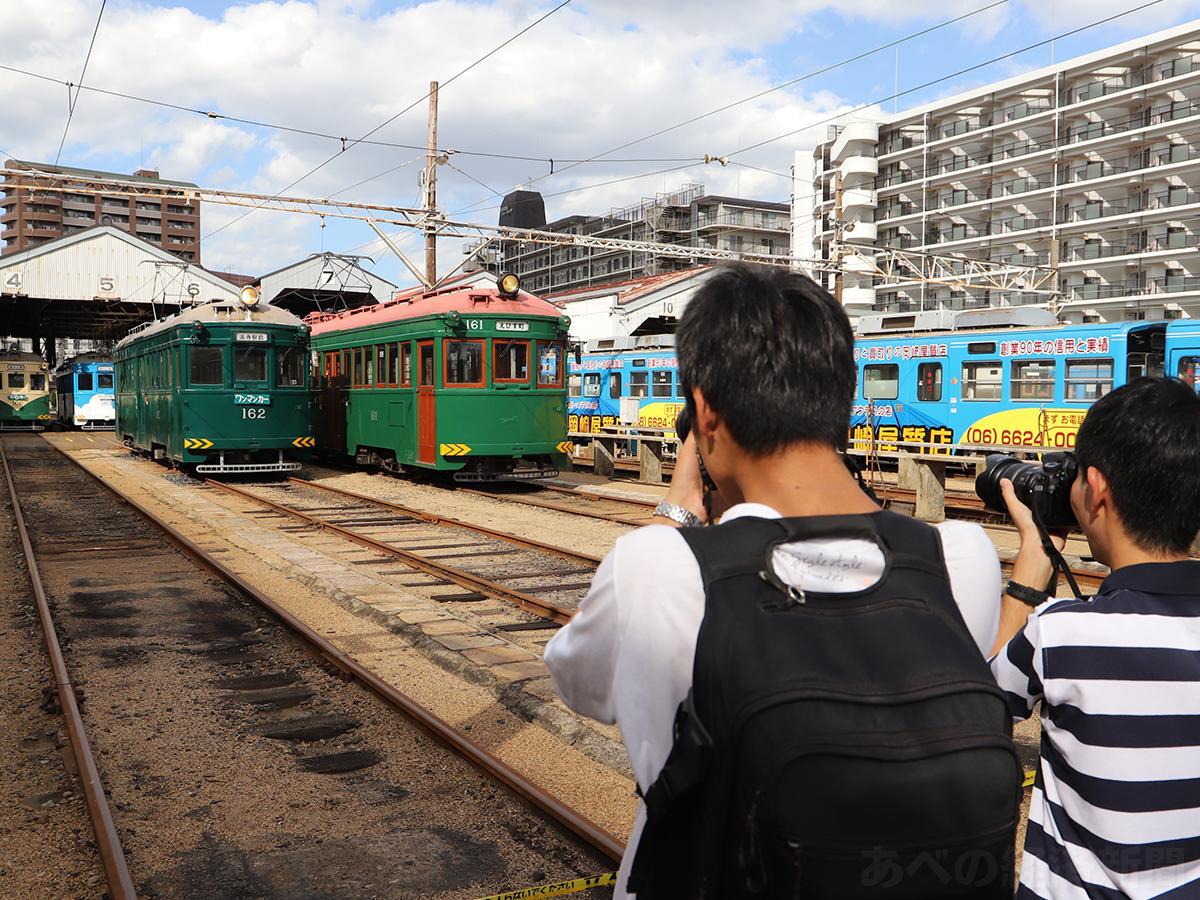 モ161形車を撮影する鉄道ファン