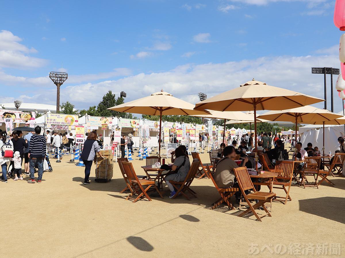 長居公園で開催された「ラーメン女子博 in 大阪」