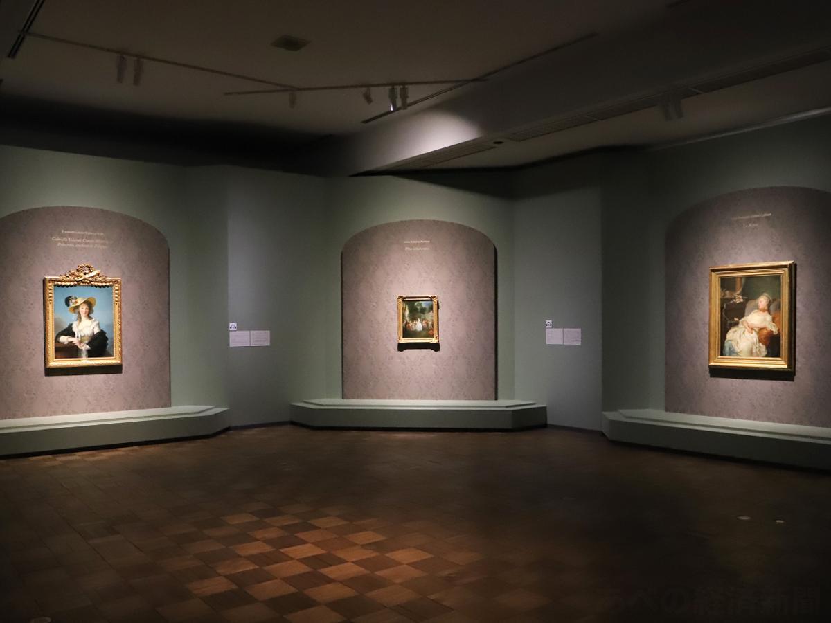 特別展「フランス絵画の精華」の会場(25日の展覧会で)