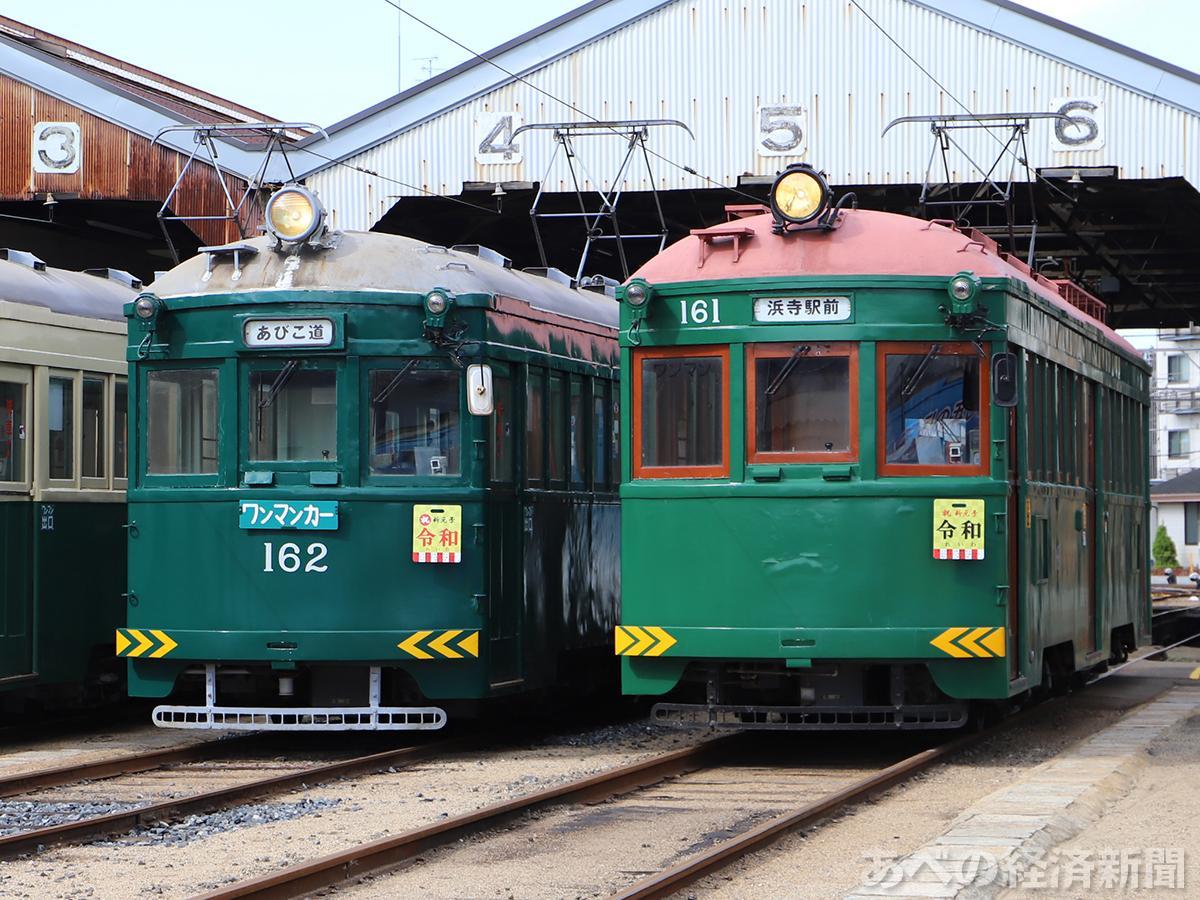 阪堺電車162号車・161号車(昨年の撮影会で)