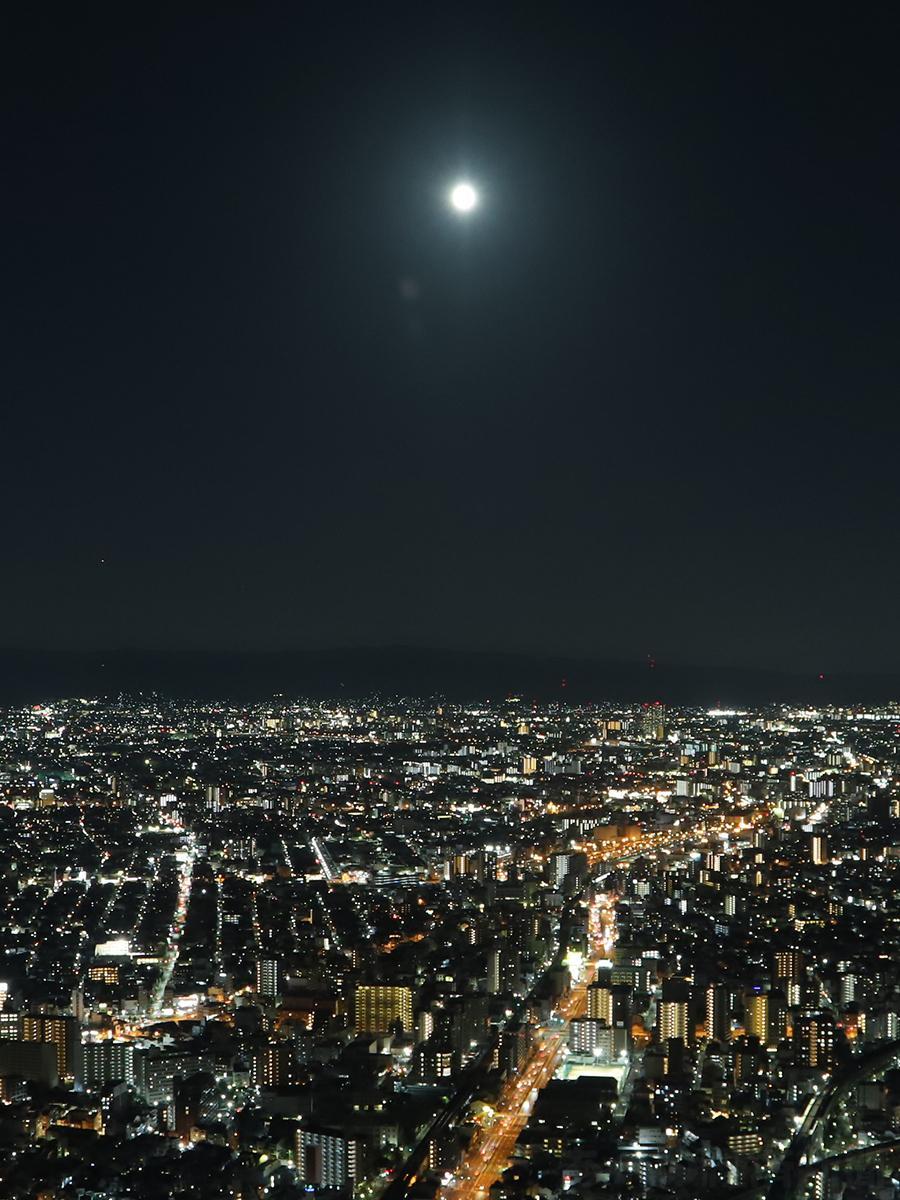 中秋の名月(あべのハルカスで10月1日撮影)