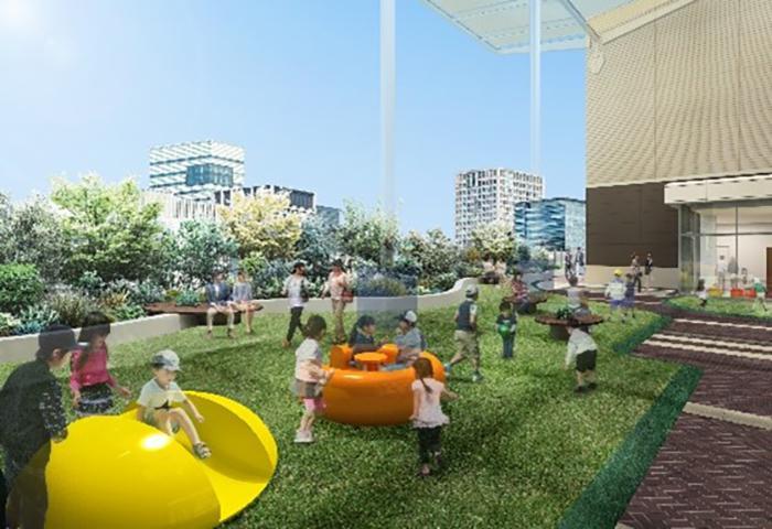 あべのキューズモール3階に開設するキューズパーク(イメージ)