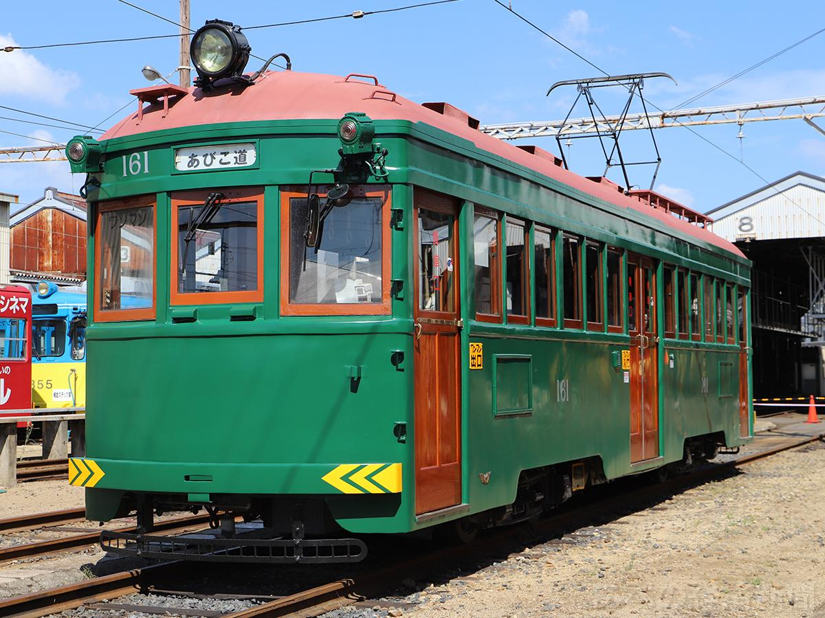 大規模修繕工事を終えた阪堺電車モ161形モ161号
