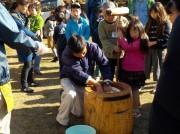 足立区都市農業公園で「つきたての餅」を販売 しめ縄飾り作りも