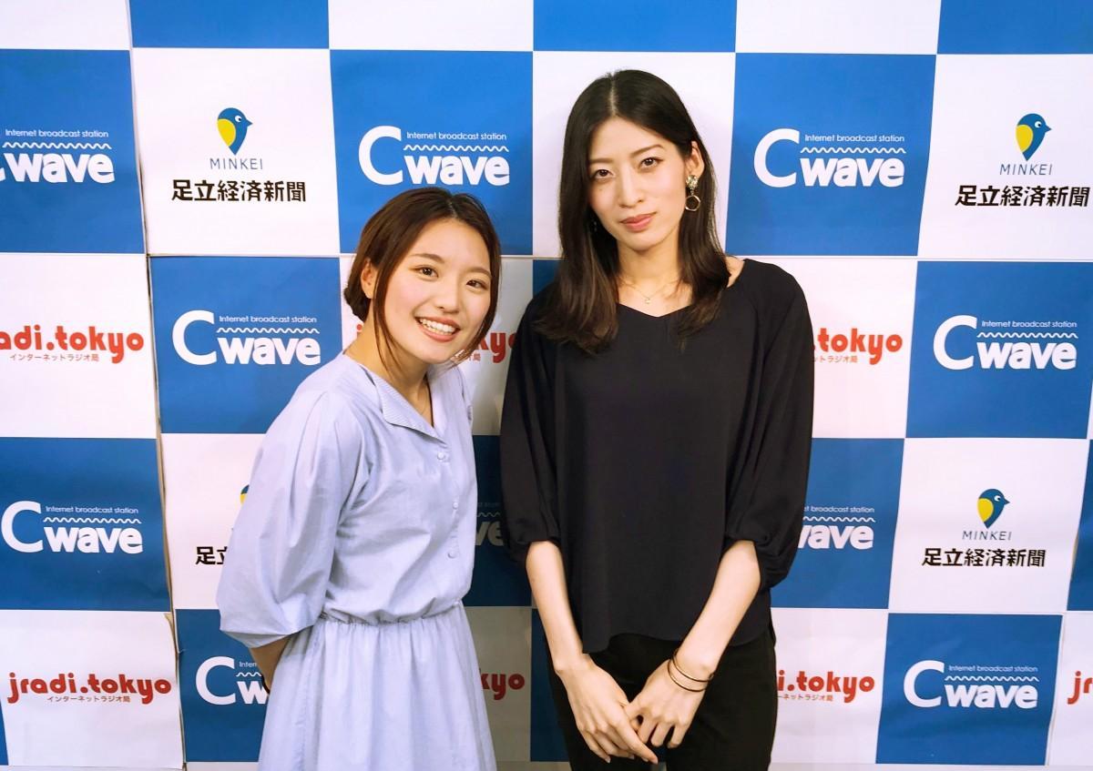 ネット放送局「Cwave」番組に出演した、岩戸さん(写真左)立道さん(写真右)