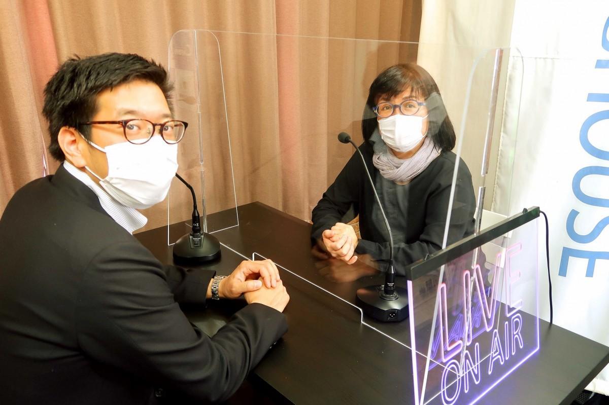 「TASUKI-AID」を企画・制作を立ち上げた、(左から)オーエム大村さんとカブ・デザイン齋藤さん