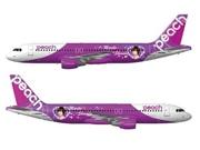Peach成田線初便「CA」に篠田麻里子さん-特別デザイン機も就航