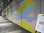 羽田に「ポスト・イット」3千枚の巨大モザイクアート、住友スリーエムが展示