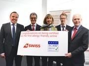 SWISS、世界初「アレルギー・フレンドリー」な航空会社に-欧州専門機関が認証