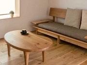 セントレアに「飛騨の家具ラウンジ」 国際線出発エリアに40席分、ソファも