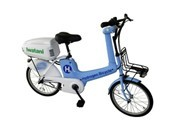 "Demonstration Study of ""Hydrogen Bicycle"" at Kansai Airport - Equipped with Small Fuel Cell by Iwatani Corporation"