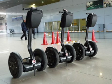 Nighttime Security with Segway at Kansai Airport - Patrols at Station and Elsewhere Starting April 1st