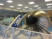 Popular New Aviation Exhibit at Kagoshima Airport - Real Displays Include Engines and Tires