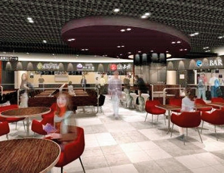 New Food Court at Narita Airport: