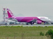 First LCC Peach Aircraft Arrives at Kansai Prior to Service Start in March 2012
