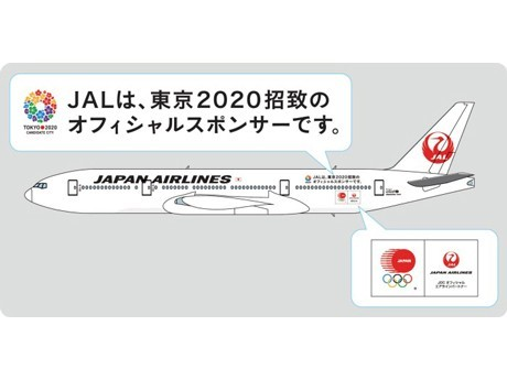 JAL Boeing 777 Flying Nationwide out of Haneda Supports Tokyo Olympic Bid with Wrap Advertising