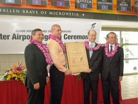 Sendai and Guam Int'l Become Sister Airports - 21 Years of Service Overcome Adversity to Persevere