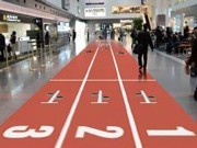 Giant Displays at Haneda Airport Terminal Boost Tokyo Olympic Bid with Full Support of JAL