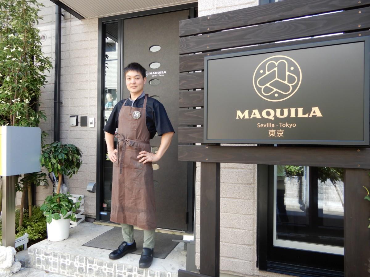 料理長の安斎さん、(「MAQUILA TOKYO」前で)