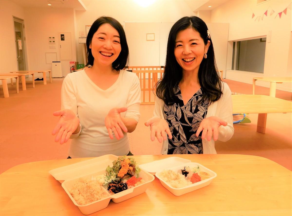 いろむすびcafeの渡邉さん(左)と赤星さん(右)