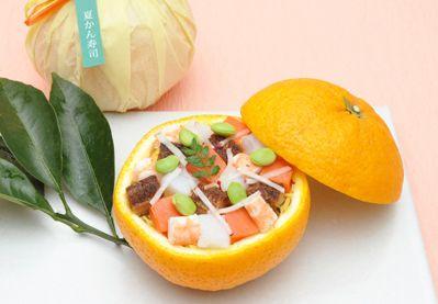 愛媛県の郷土料理を福槌(つち)風に仕立てた「夏かん寿司」