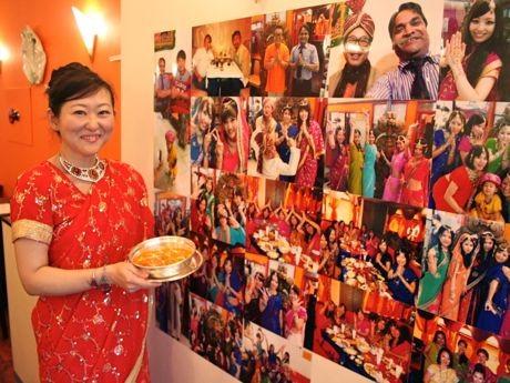 インドの民族衣装「サリー」を無料で貸し出し、記念撮影もできる