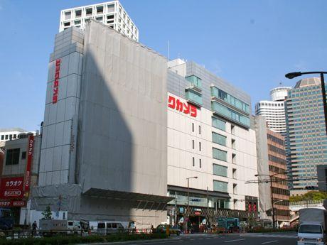 工事が進む元ベルビー赤坂の駅ビル