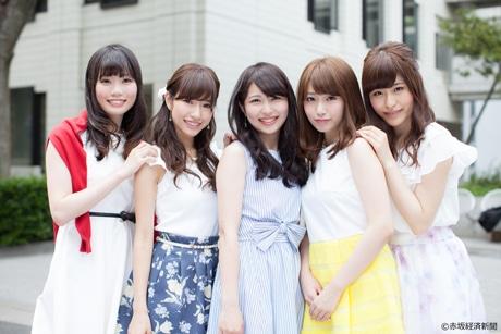 左から候補者の栗村真由さん、伊藤渚さん、栗山朋子さん、岡部茉佑さん、石本花さん