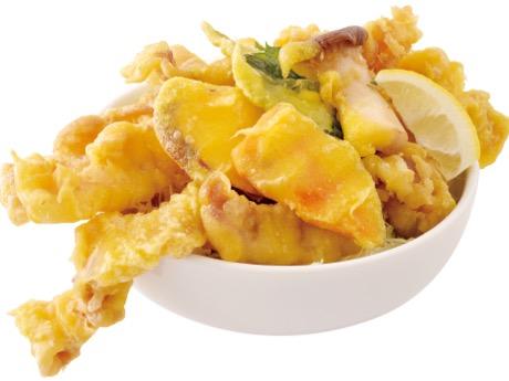 「げんまい食堂の SMILE KITCHEN」の「秋の彩り三元豚のソースカツ丼セット」
