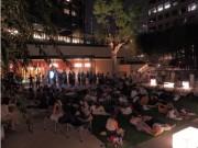 東京ガーデンテラス紀尾井町で「星空の集い」 芝生に寝ころび月を観察