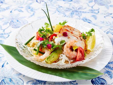 米粉の麺を使った「冷製アジアンヌードル」