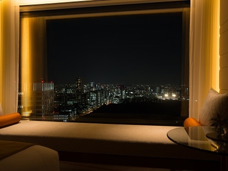 花火が見える客室「デラックスルーム(ツイン・キング)」から見ることができる夜景