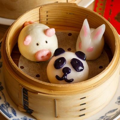 「Kawaii!点心」のパンダ、子ぶた、ウサギ
