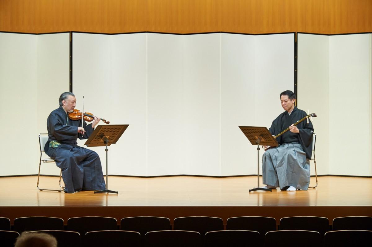 邦楽と洋楽がコラボレーションした公演(過去開催時の様子)