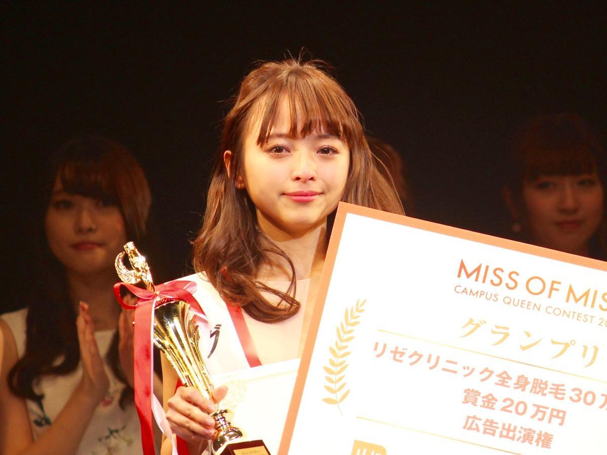 2017年度「ミス・オブ・ミス・キャンパス・クイーン」グランプリに選ばれた、駒澤大学法学部3年の黒口那津さん