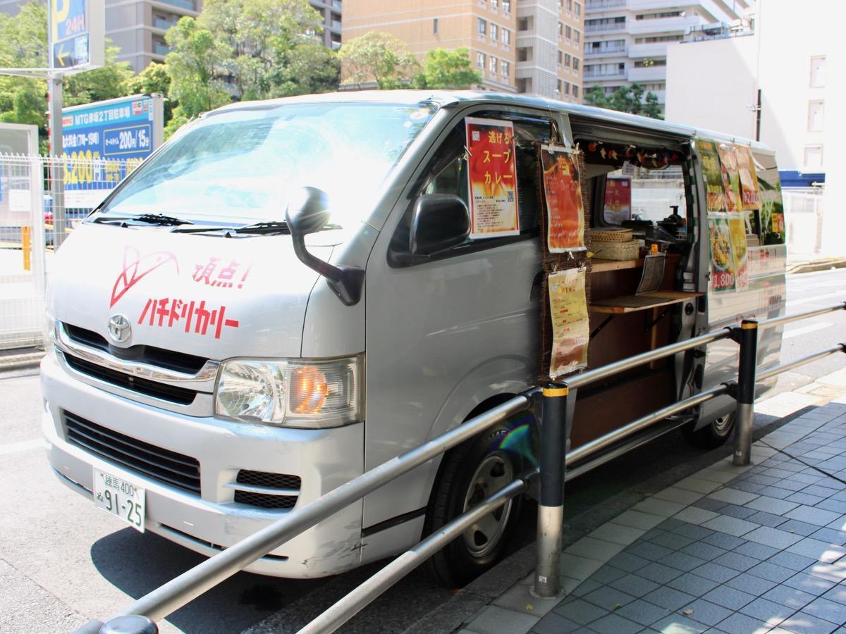 毎週火曜日と木曜日に赤坂エリアで移動販売を行っている同店