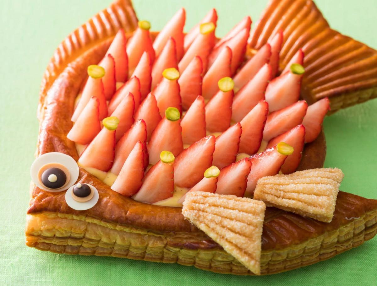 エイプリルフールに合わせて用意する魚型のケーキ「ポワソン・ダブリル」