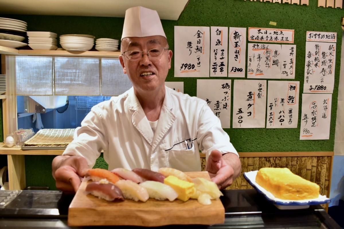 寿司職人の袴田仁さん