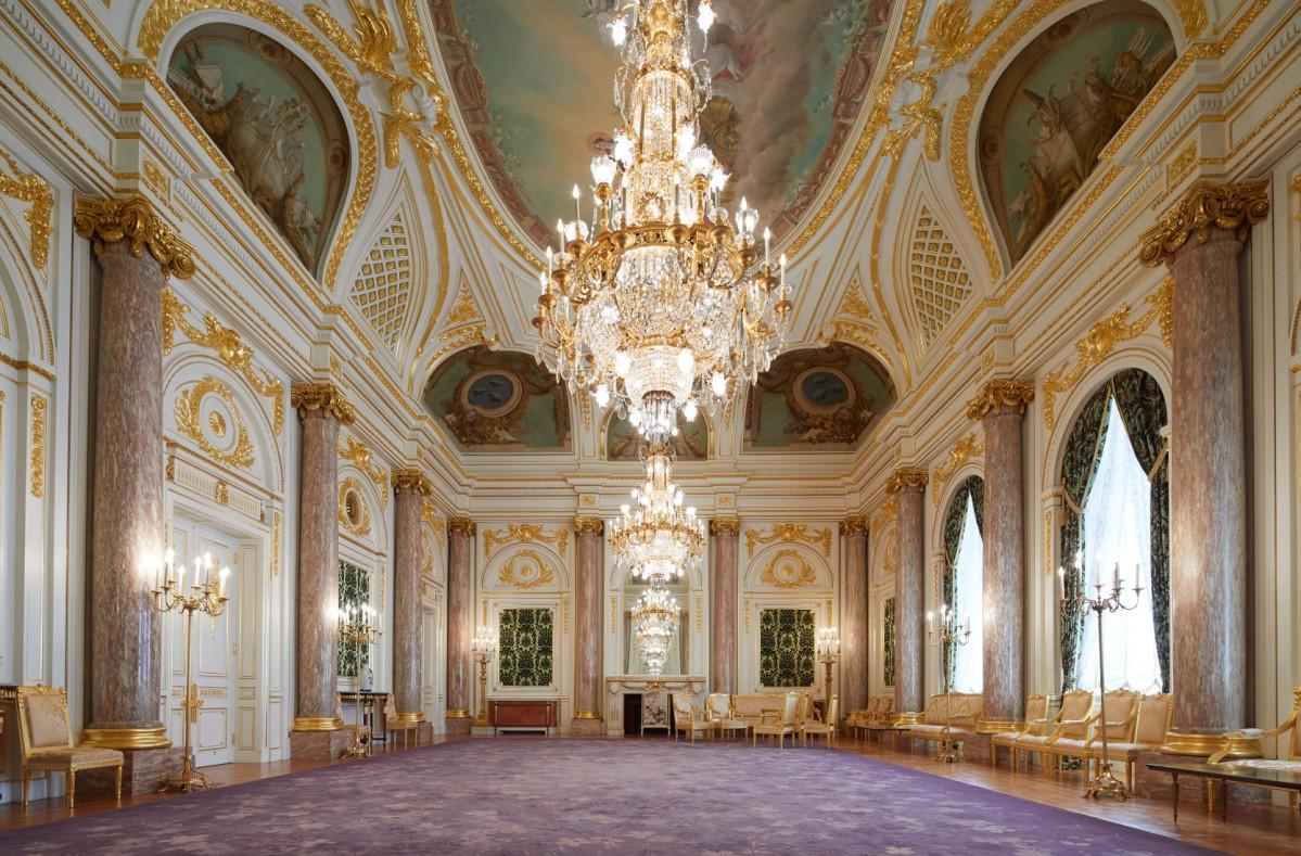 改修が完了した同館で最も格式が高いとされる「朝日の間」(提供=内閣府迎賓館)