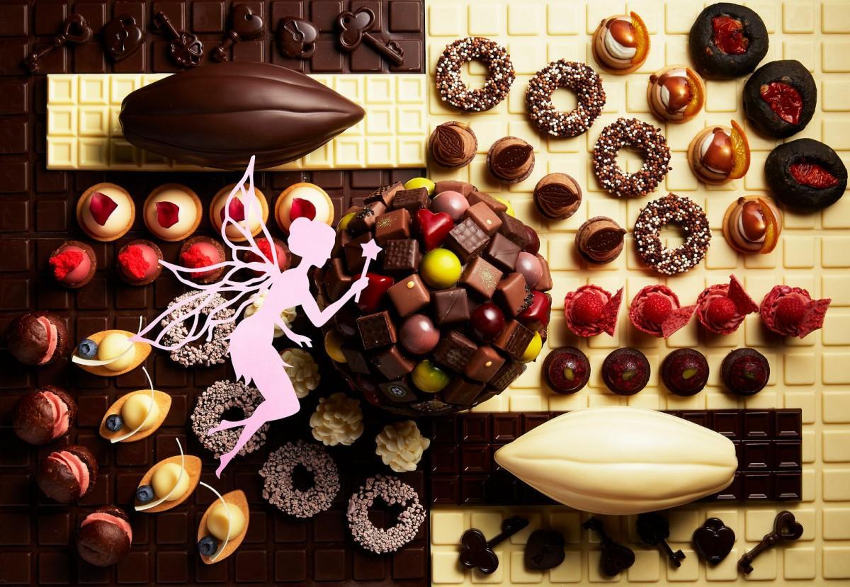 「シャンパン・バー」では「チョコレート・スイーツビュッフェ」を開催