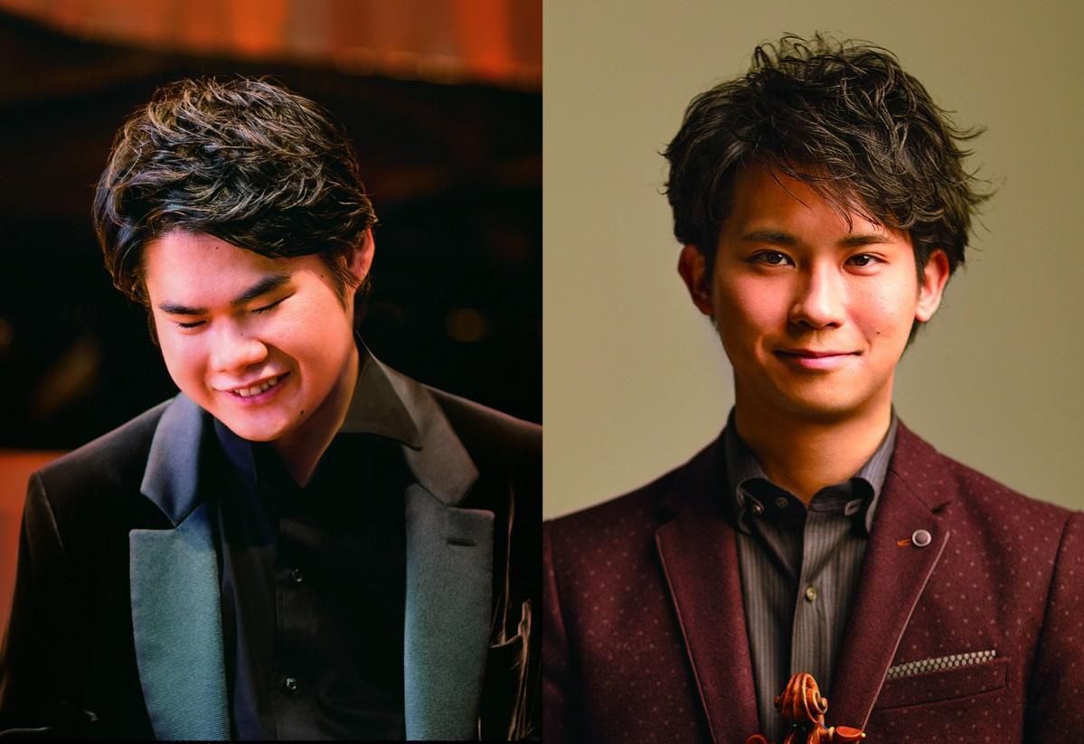 (画像左)ピアニストの辻井伸行さん(C)Yuji Hori、(画像右)バイオリニストの三浦文彰さん(C)Yuji Hori