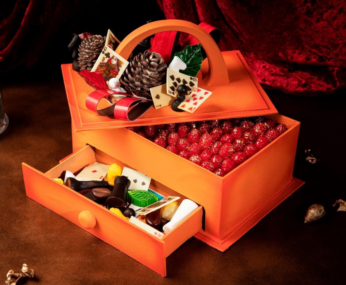 ふたの飾りも全て食べられる「Playful Box」