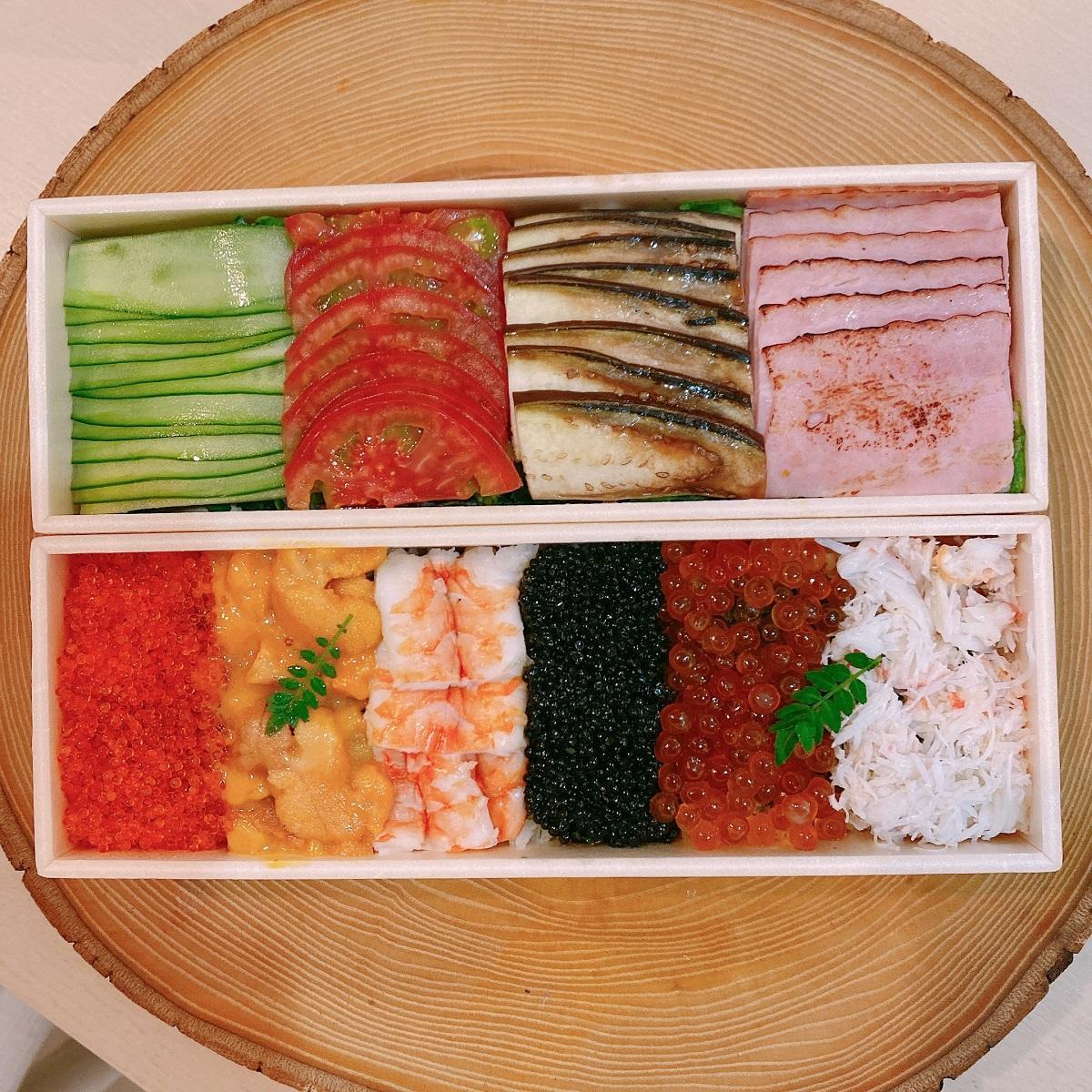 「宝ちらし寿司w/サラダ」