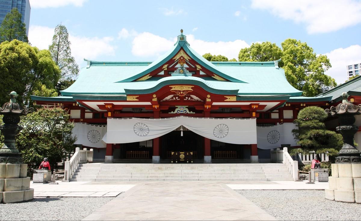 日枝神社の境内