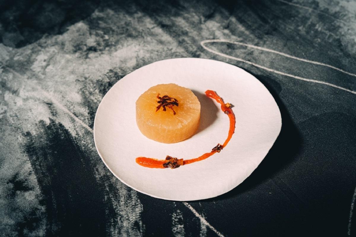 料理一例「大根×ドライトマト」