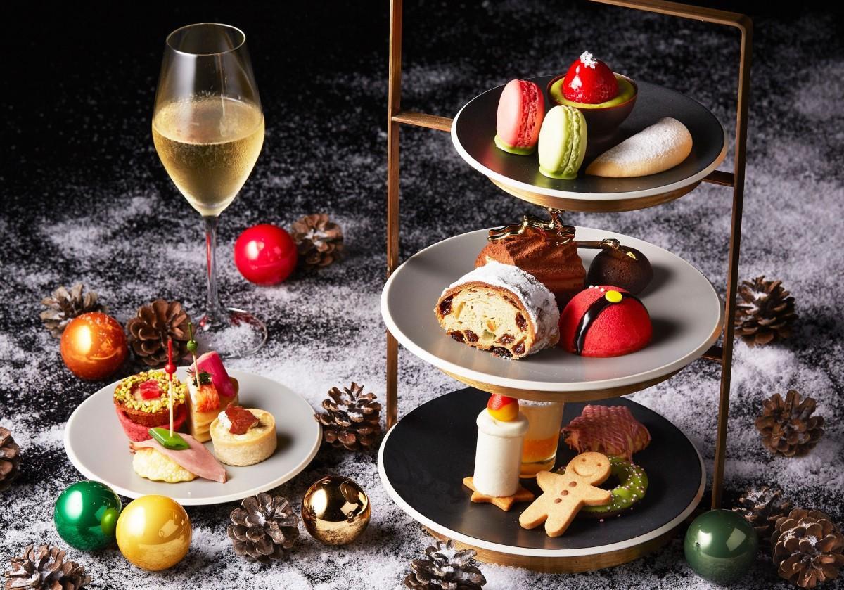 「シャンパン・バー」で提供する新作の「クリスマス・アフタヌーンティーセット」