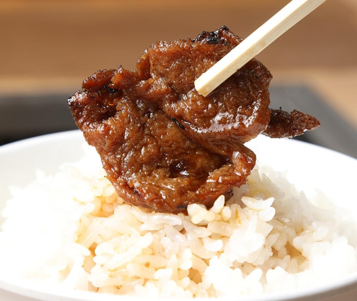 大豆を用いた焼き肉用の代替肉