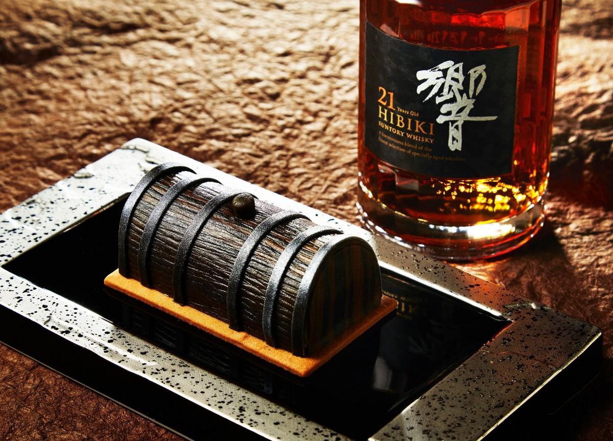 ウイスキーの「サントリー響21年」を使った「響ガトー」